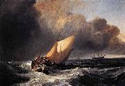 Joseph Mallord William Turner Dutch Boats in a Gale oil painting reproduction
