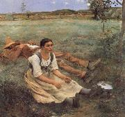 Jules Bastien-Lepage Haymaking oil painting reproduction