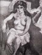 Jules Pascin Younger woman of Blue eye oil painting reproduction