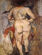 Jules Pascin A view of Venus-s back oil painting on canvas