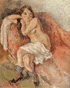 Jules Pascin Susan near the sofa oil painting reproduction
