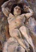 Jules Pascin Fat woman at the Guli street oil painting