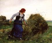 Julien  Dupre The Tedder oil painting reproduction