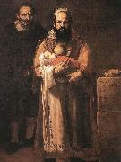 Jusepe de Ribera Magdalena Ventura with Her Husband and Son oil painting