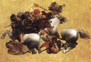 Battle of Anghiari, LEONARDO da Vinci
