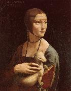 Lady with Ermine, LEONARDO da Vinci