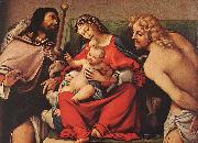 Madonna with the Child and Sts Rock and Sebastian, Lorenzo Lotto