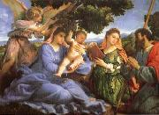 Madonna and child with Saints Catherine and James, Lorenzo Lotto