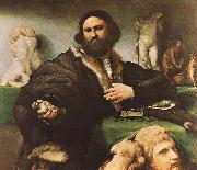 Portrait of Andrea Odoni, Lorenzo Lotto
