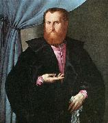 Portrait of a Man in Black Silk Cloak, Lorenzo Lotto