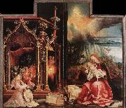 Concert of Angels and Nativity, Matthias  Grunewald