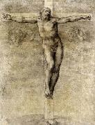 Michelangelo Buonarroti Christ on the Cross oil painting reproduction