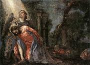 Christ in the Garden Supported by an Angel, Paolo  Veronese