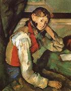 Boy in a Red waiscoat, Paul Cezanne