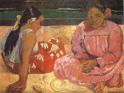 Paul Gauguin Two Women on the Beach oil painting reproduction