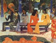Paul Gauguin We Shall not go to market Today oil painting reproduction
