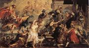 Peter Paul Rubens Henr IV himmelsfard and regeringsproklamationen oil painting reproduction