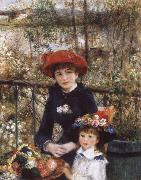 On tghe Terrace, Pierre Auguste Renoir