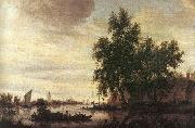 Saloman van Ruysdael The Ferryboat oil painting