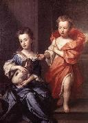 Sir Godfrey Kneller Edward and Lady Mary Howard oil painting artist