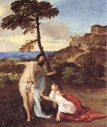 Christ and Maria Magdalena, TIZIANO Vecellio