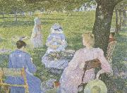 Family in an Orchard, Theo Van Rysselberghe