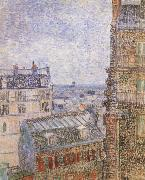 Paris seen from Vincent-s Room In the Rue Lepic, Vincent Van Gogh