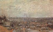 View of Paris From Montmatre, Vincent Van Gogh