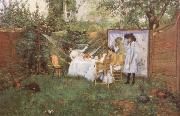 William Merrit Chase The Open air Breakfast oil painting