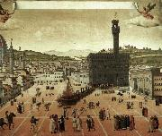 unknow artist Execution of Savonarola on the Piazza della Signoria oil painting reproduction