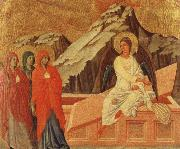 Duccio The Holy women at the grave