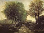 Alfred Sisley Lane near a Small Town oil painting