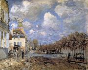 Alfred Sisley Boat in the Flood at Port-Marly oil painting