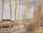 Alfred Sisley The Canal du Loing at Moret oil painting