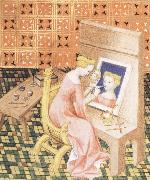 Marcia Painting her Self-Portrait, Anonymous