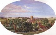 Anthony Frederick Augustus Sandys A Panoramic View of Hunworth (mk46) oil painting artist