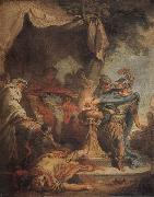 Mucius Scaevola putting his hand in the fire