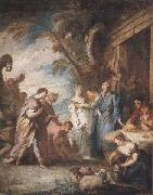 Francois Boucher Welcoming the Servant of Abraham oil painting
