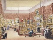 Interior of the Gallery of the New Society of Painters in Watercolours (mk47)
