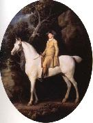 George Stubbs Self-Portrait on a White Hunter oil painting