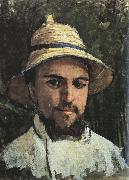 Self-Portrait in Colonial Helmet, Gustave Caillebotte