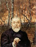 Self-Portrait before a Birch Wood, Hans Thoma
