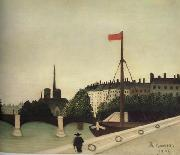 Henri Rousseau Notre-Dame Seen from Port Henri-IV oil painting artist
