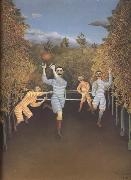 Henri Rousseau Soccer Players oil painting artist