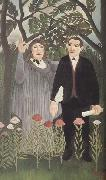 Portrait of Guillaume Apollinaire and Marie Laurencin with Poet's Narcissus, Henri Rousseau