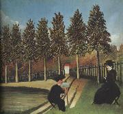 The Artist Painting His Wife, Henri Rousseau