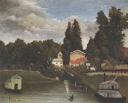 Banks of the Marne(Charenton) The Alfort Mill, Henri Rousseau