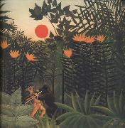 Henri Rousseau Exotic Landscape oil painting reproduction
