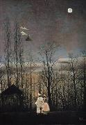 Henri Rousseau A Carnival Evening oil painting artist