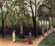 Henri Rousseau View of the Luxembourg,Chopin Monument oil painting artist